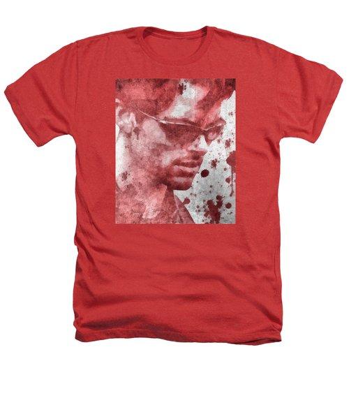 Cyclops X Men Paint Splatter Heathers T-Shirt by Dan Sproul