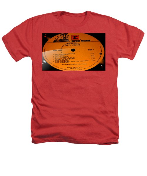 Harvest - Neil Young Side 1 Heathers T-Shirt by Marcello Cicchini