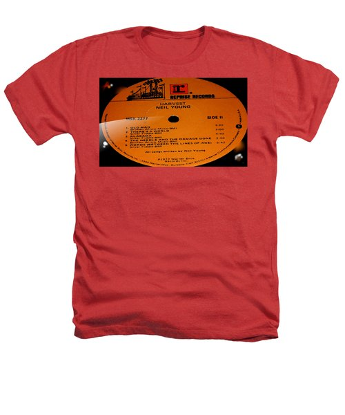 Harvest Neil Young Side 2 Heathers T-Shirt by Marcello Cicchini