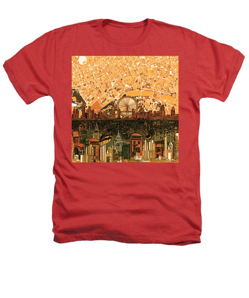 London Skyline Abstract 7 Heathers T-Shirt by Bekim Art