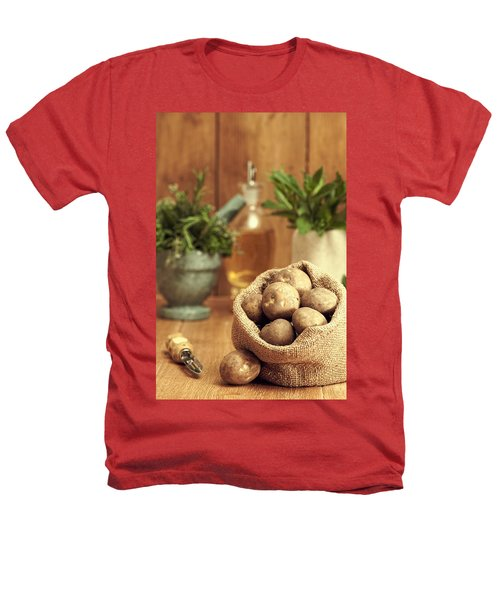 Potatoes Heathers T-Shirt by Amanda Elwell