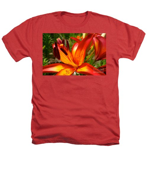 Royal Sunset Lily Heathers T-Shirt by Jacqueline Athmann