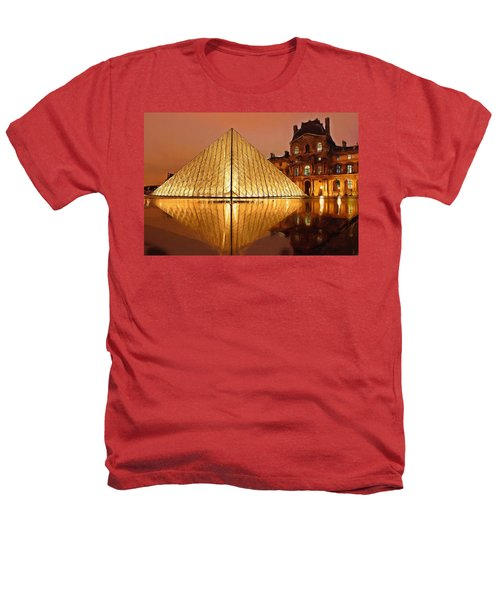 The Louvre By Night Heathers T-Shirt by Ayse Deniz