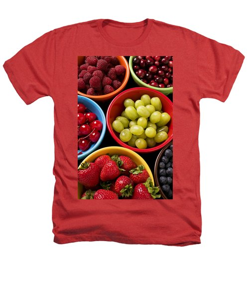 Bowls Of Fruit Heathers T-Shirt by Garry Gay