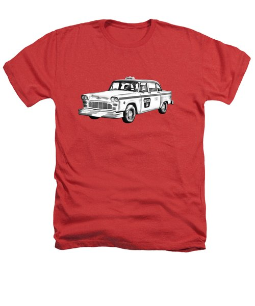 Checkered Taxi Cab Illustrastion Heathers T-Shirt by Keith Webber Jr