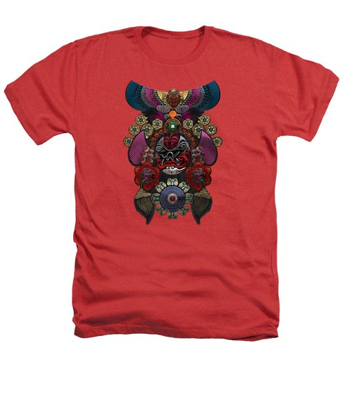 Chinese Masks - Large Masks Series - The Demon Heathers T-Shirt by Serge Averbukh