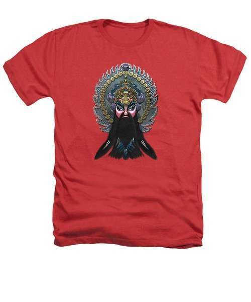 Chinese Masks - Large Masks Series - The Emperor Heathers T-Shirt by Serge Averbukh
