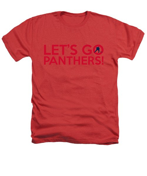 Let's Go Panthers Heathers T-Shirt by Florian Rodarte