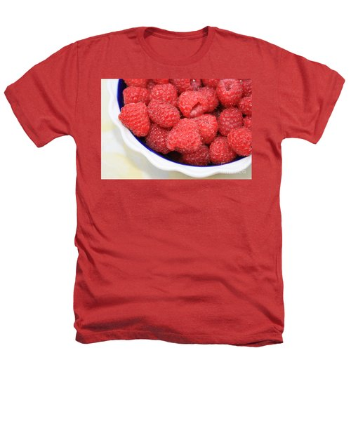 Raspberries In Polish Pottery Bowl Heathers T-Shirt by Carol Groenen