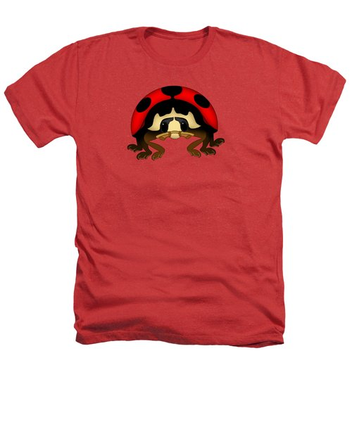 Red Bug Heathers T-Shirt by Sarah Greenwell
