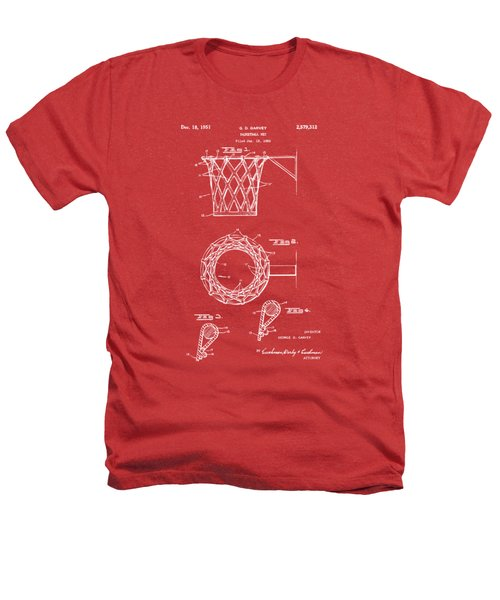 1951 Basketball Net Patent Artwork - Red Heathers T-Shirt by Nikki Marie Smith