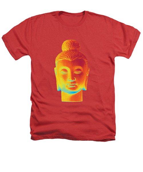 colorful Buddha - Gandhara Heathers T-Shirt by Terrell Kaucher
