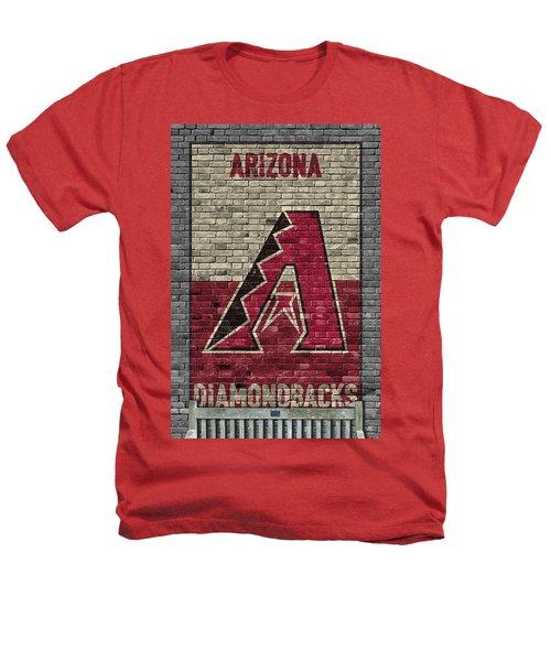 Arizona Diamondbacks Brick Wall Heathers T-Shirt by Joe Hamilton