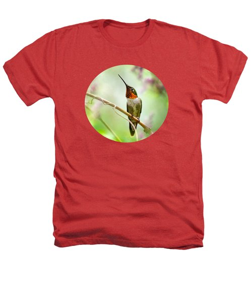 Hummingbird Looking For Love Heathers T-Shirt by Christina Rollo