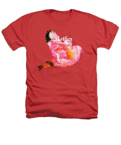 Roses - Verse Heathers T-Shirt by Anita Faye