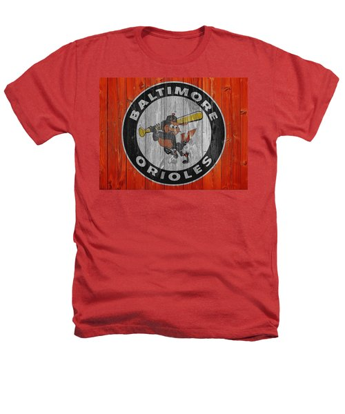 Baltimore Orioles Graphic Barn Door Heathers T-Shirt by Dan Sproul