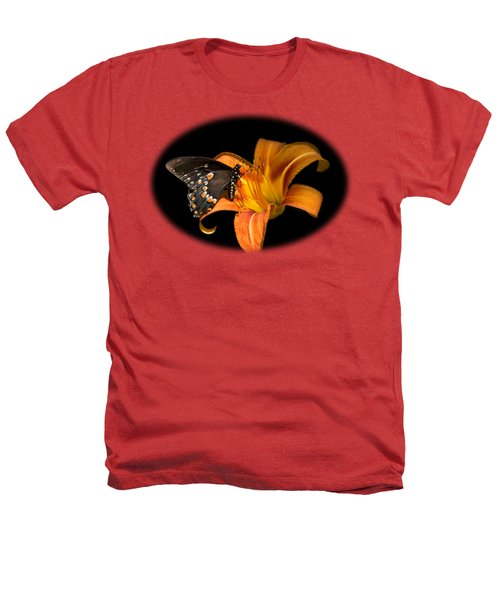 Black Beauty Butterfly Heathers T-Shirt by Christina Rollo
