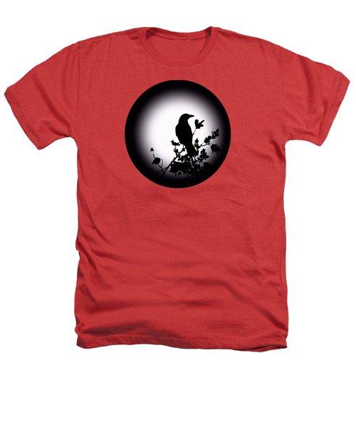 Blackbird In Silhouette  Heathers T-Shirt by David Dehner