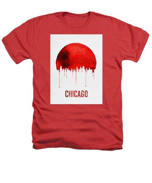 Chicago Skyline Red Heathers T-Shirt by Naxart Studio