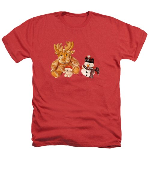 Christmas Buddies Heathers T-Shirt by Angeles M Pomata