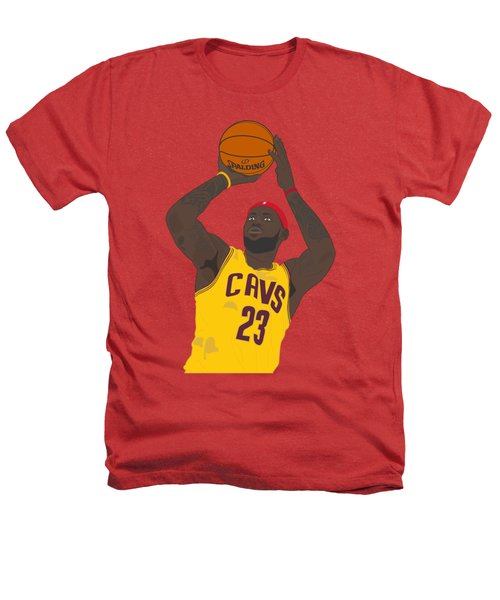 Cleveland Cavaliers - Lebron James - 2014 Heathers T-Shirt by Troy Arthur Graphics
