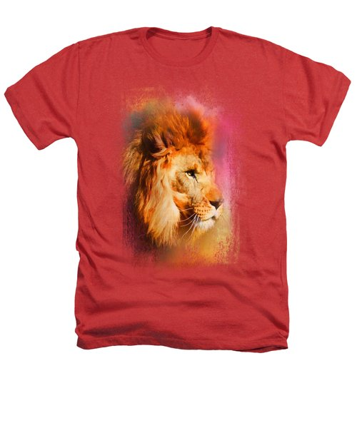 Colorful Expressions Lion Heathers T-Shirt by Jai Johnson