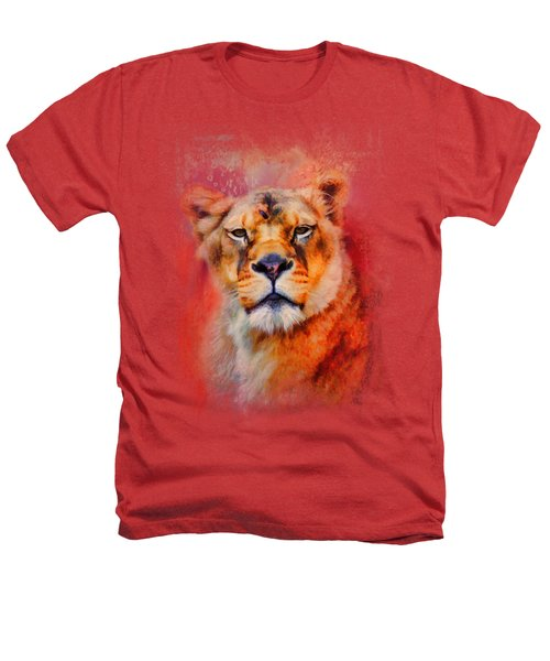 Colorful Expressions Lioness Heathers T-Shirt by Jai Johnson