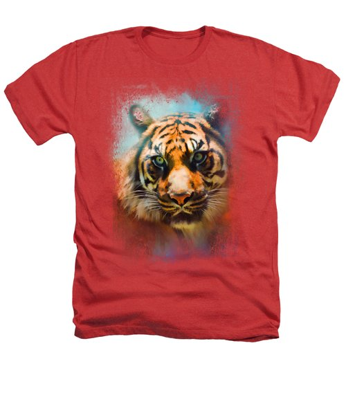 Colorful Expressions Tiger 2 Heathers T-Shirt by Jai Johnson