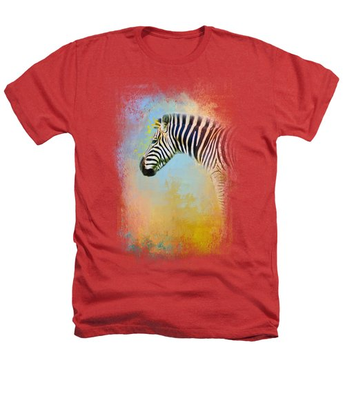 Colorful Expressions Zebra Heathers T-Shirt by Jai Johnson