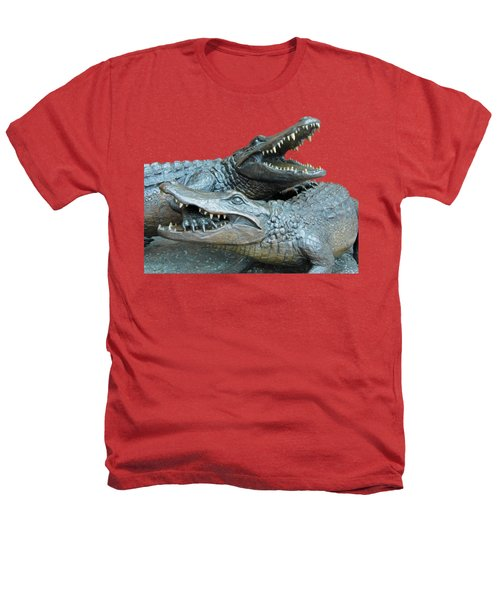 Dueling Gators Transparent For Customization Heathers T-Shirt by D Hackett