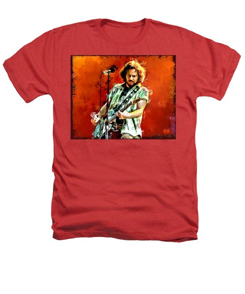 Eddie Vedder Painting Heathers T-Shirt by Scott Wallace