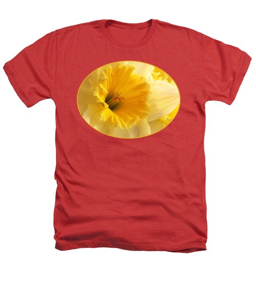 Focus On Spring - Daffodil Close Up Heathers T-Shirt by Gill Billington