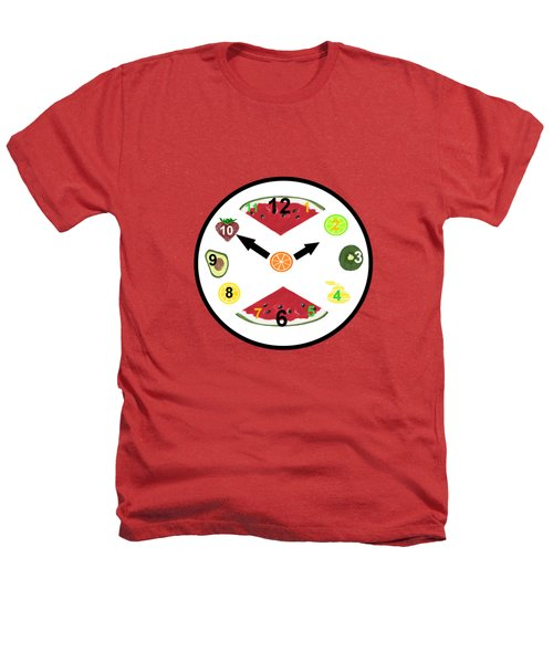 Food Clock Heathers T-Shirt by Kathleen Sartoris