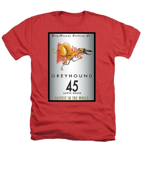 Greyhound 45 Mph Beer Heathers T-Shirt by John LaFree