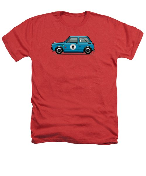 Honda N600 Blue Kei Race Car Heathers T-Shirt by Monkey Crisis On Mars