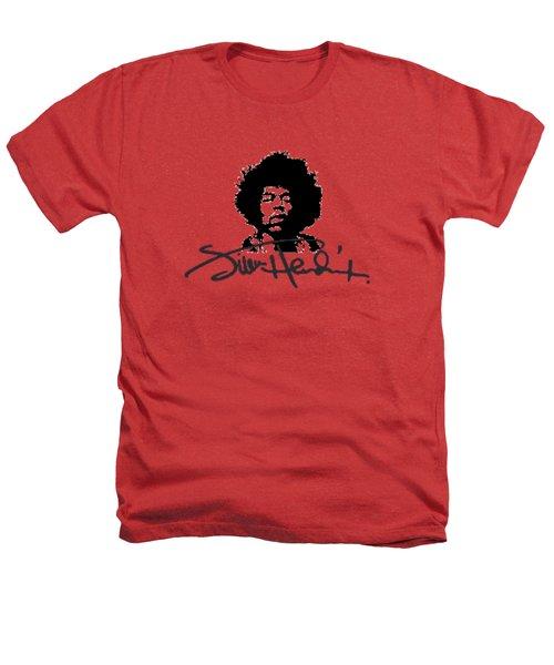 Jimi Hendrix Purple Haze Heathers T-Shirt by David Dehner