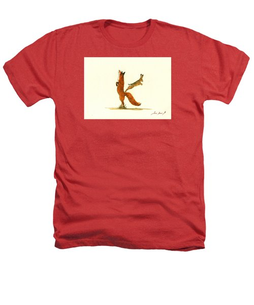 K Letter Woodland Alphabet Heathers T-Shirt by Juan  Bosco