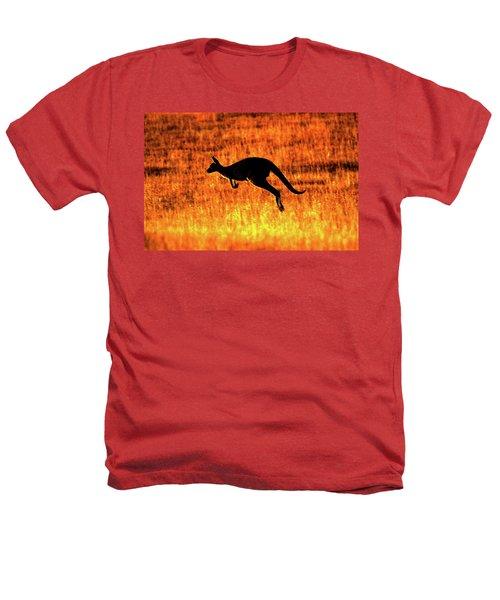 Kangaroo Sunset Heathers T-Shirt by Bruce J Robinson