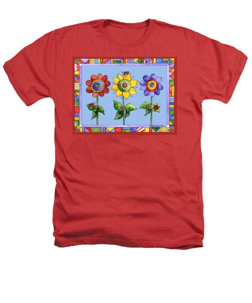 Ladybug Trio Heathers T-Shirt by Shelley Wallace Ylst