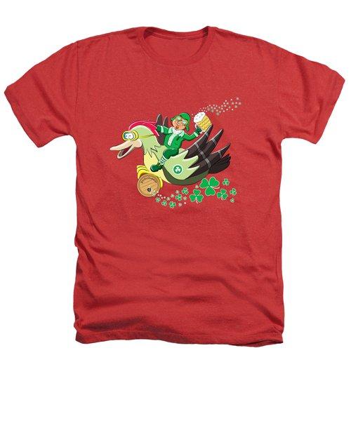 Lucky Leprechaun Heathers T-Shirt by David Brodie