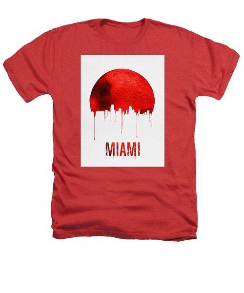 Miami Skyline Red Heathers T-Shirt by Naxart Studio