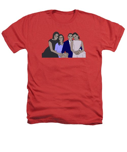 Obama Family Heathers T-Shirt by Priscilla Wolfe