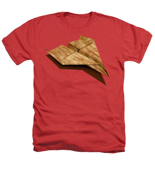 Paper Airplanes Of Wood 5 Heathers T-Shirt by YoPedro