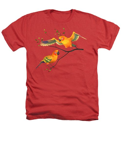 Parrots Conure Heathers T-Shirt by Diane Leenknegt
