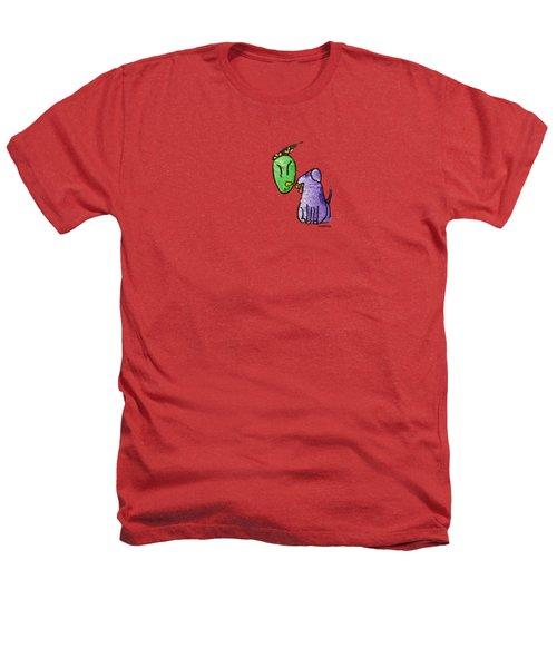 Play Ball Heathers T-Shirt by LimbBirds Whimsical Birds