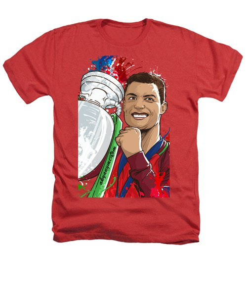 Portugal Campeoes Da Europa Heathers T-Shirt by Akyanyme