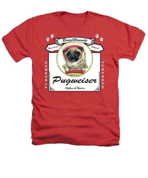 Pugweiser Beer Heathers T-Shirt by John LaFree