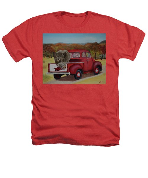Ridin' With Razorbacks Heathers T-Shirt by Belinda Nagy