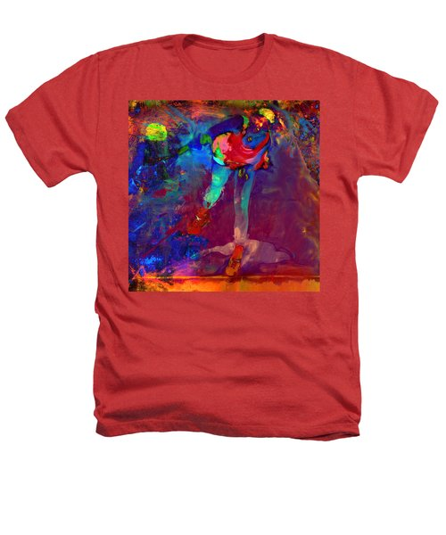 Serena Williams Return Explosion Heathers T-Shirt by Brian Reaves