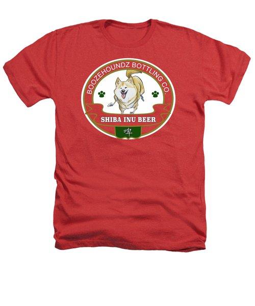 Shiba Inu Beer Heathers T-Shirt by John LaFree